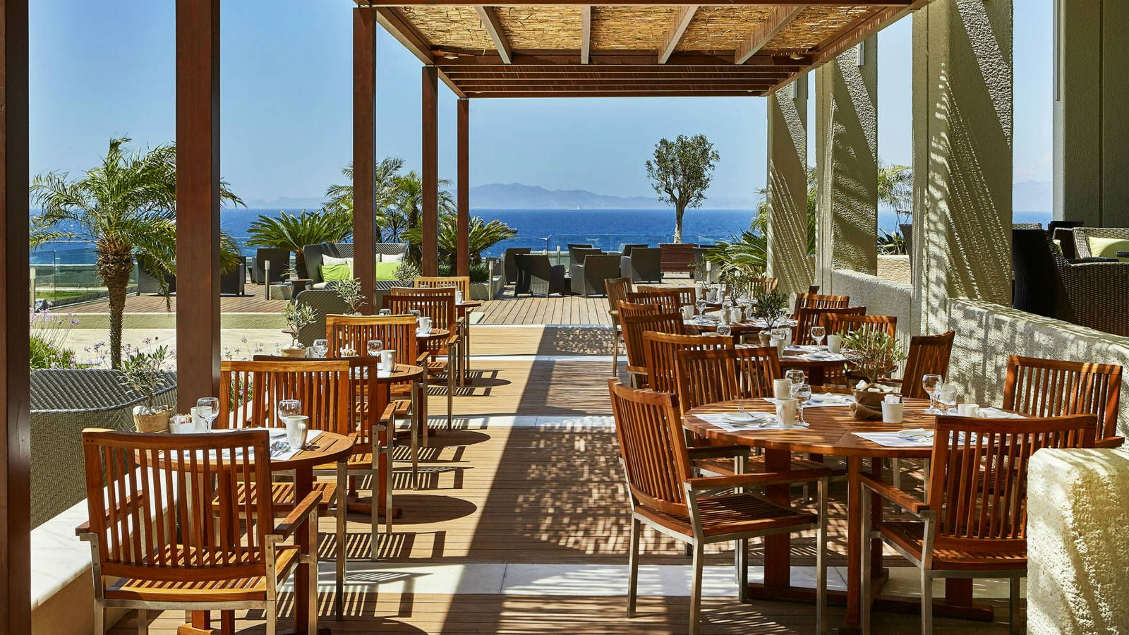 Dedicated SPG Breakfast Area at the Castellania Restaurant of Sheraton Rhodes Resort