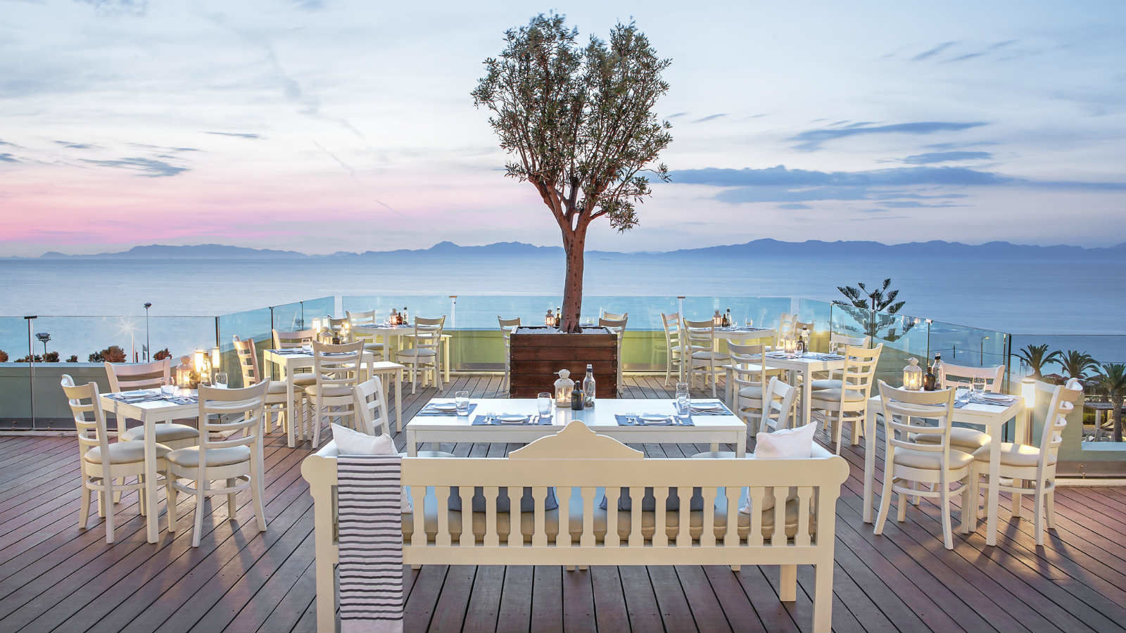 Traditional Greek cuisine at Thea Restaurant Sheraton Rhodes Resort