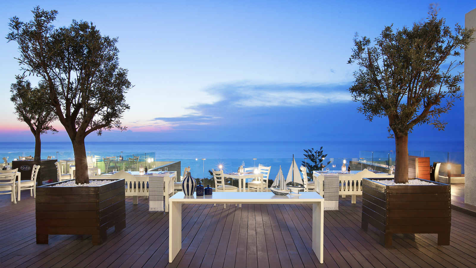 Thea Restaurant featuring traditional Greek cuisine at the Sheraton Rhodes Resort