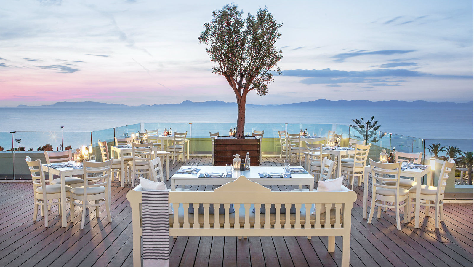 Sea View - Thea Restaurant featuring traditional Greek Cuisine at Sheraton Rhodes Resort