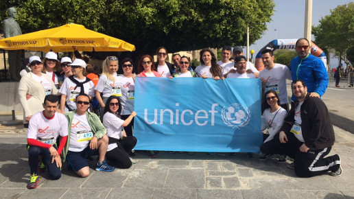 Sheraton Rhodes Resort associates team supporting Unicef by participating at the Roads2Rhodes event.